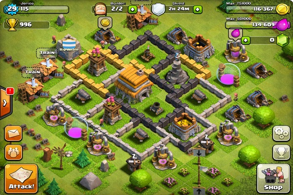 game Clash of clans lậu