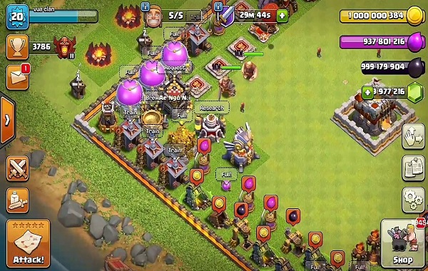 game Clash of clans lậu apk